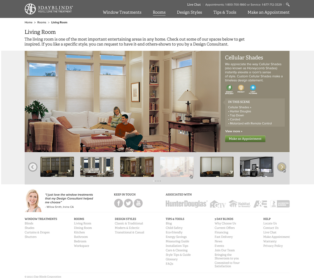 3 Day Blinds Website Redesign Alex Louie Freelance
